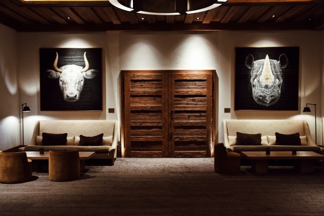 The Alpina Gstaad, the art work by Roy Nachum