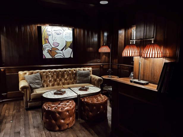 The Alpina Gstaad, the cigar lounge