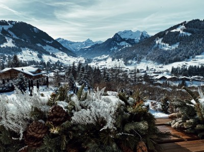 The Alpina Gstaad, the view from the balcony of the Grand Luxe Suite