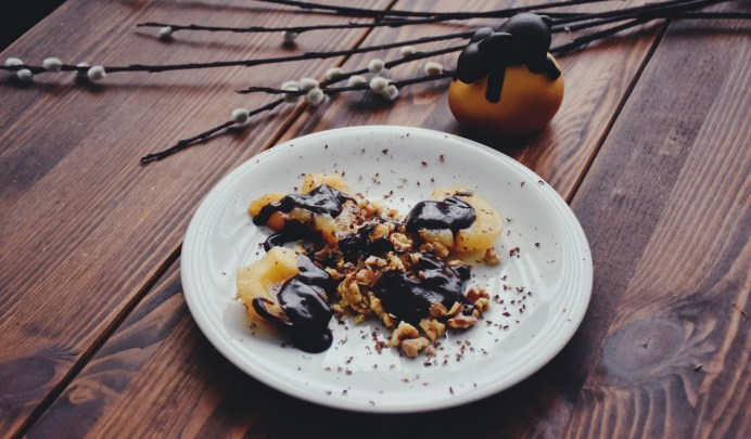 Messy Chocolate Pears