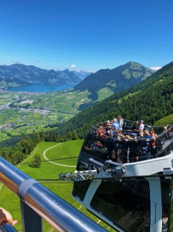 """""""CabriO"""" cable car, the world's first double-decker cable car with a roofless upper deck"""