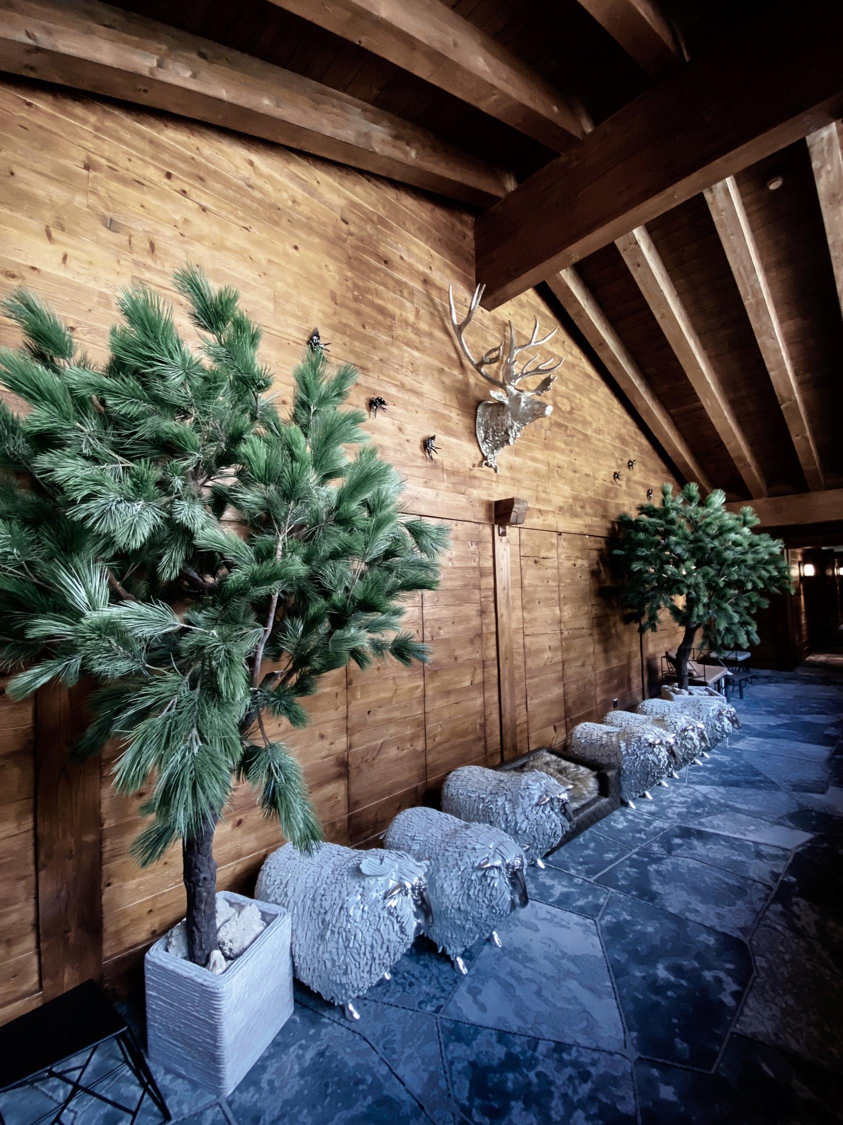 Interior design of the Riffelalp Resort 2222m