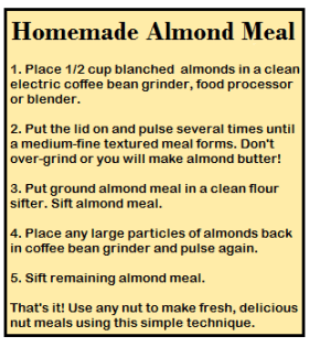 Home Made Almond Meal Recipe