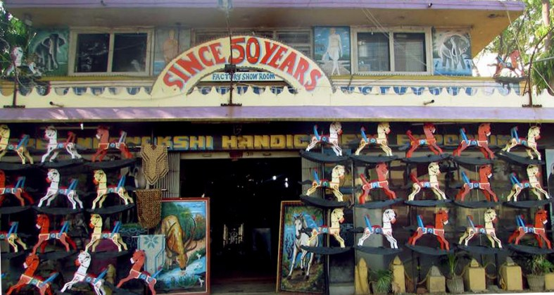 Channapatna's toy factories double up as showrooms. Photo credit: Chithra Ajith