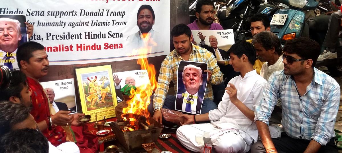 Trump card: Why the Hindu Sena held a hawan in Delhi for the Republican candidate