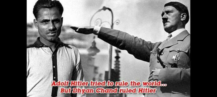 Image result for dhyan chand hockey player