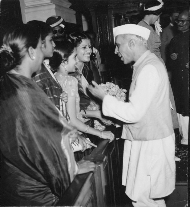 Jawaharlal Nehru with MS Subbulakshmi in 1947. Courtesy West Virginia State Archives, USA.