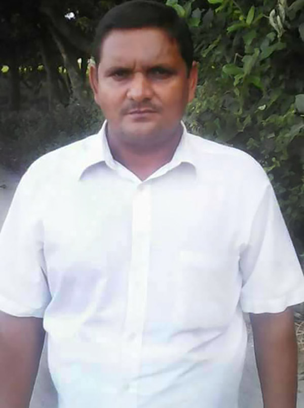 RSS worker Surendra Kumar, who was instrumental in organising the recent conversions.