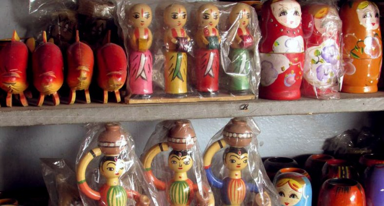 Some of the toys produced in Channapatna.