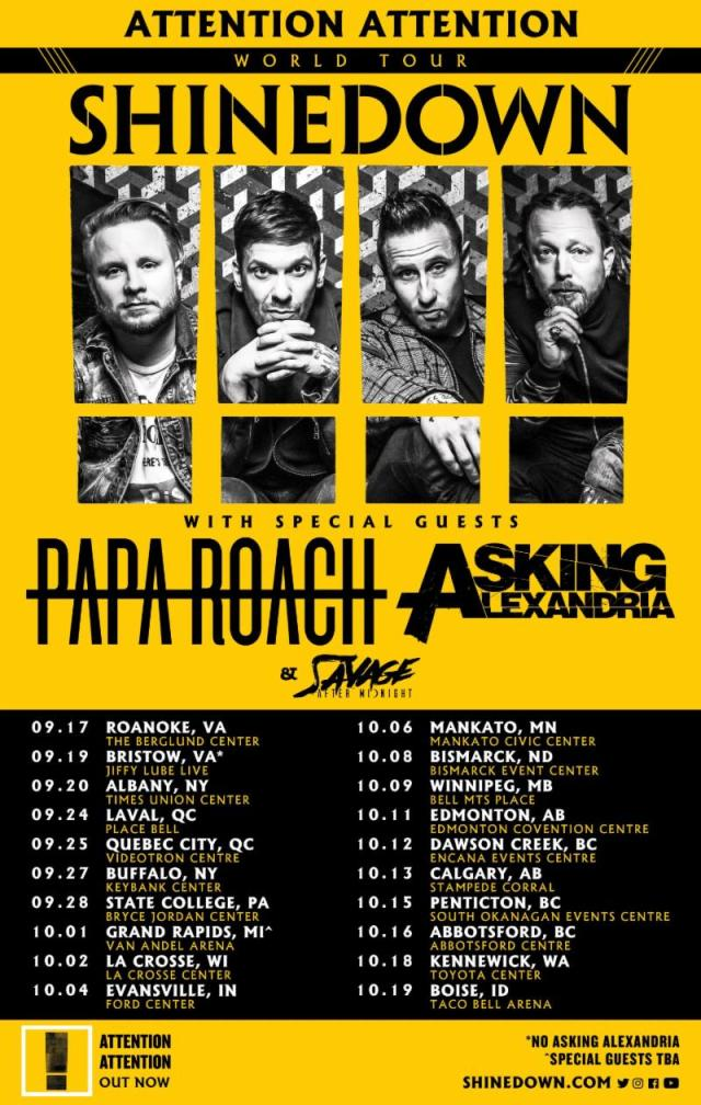 Shinedown 2019 Tour Dates