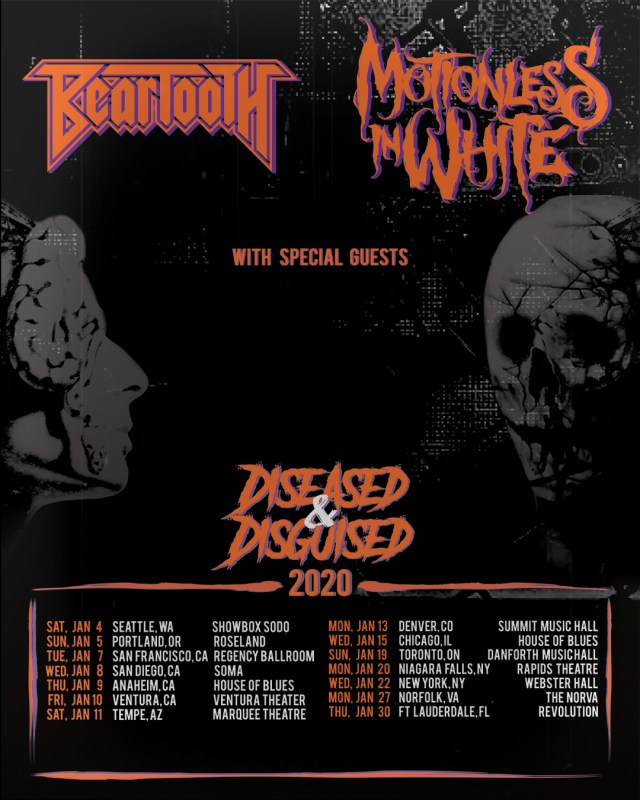 Motionless In White and Beartooth Tour Dates