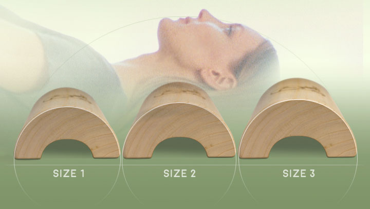 neck care with the wooden pillow