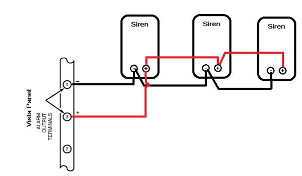 how do i add a siren to my honeywell vista alarm system