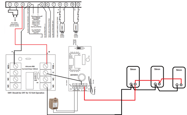 how do i add a siren to a honeywell vista system using a