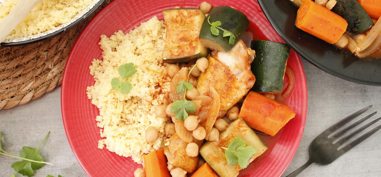 couscous poulet et legumes cookeo