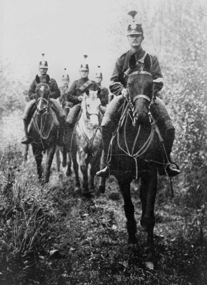 Swiss Cavalry patrolling the frontier of Switzerland, December 1917