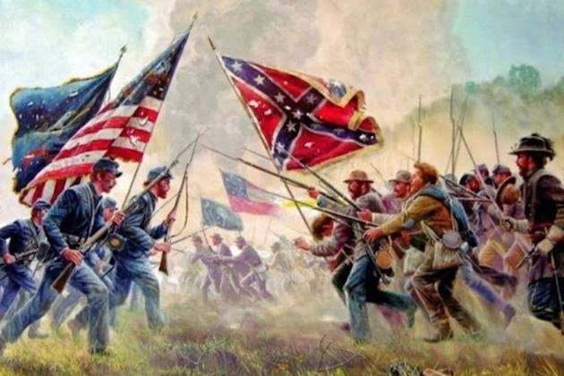 A painting of the Civil War.