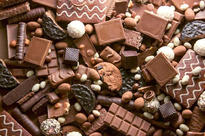 A pile of chocolate in different forms