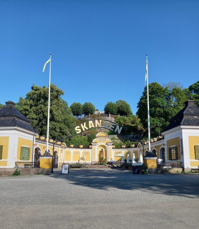 The entrance of the Museum Skansen in Stockholm