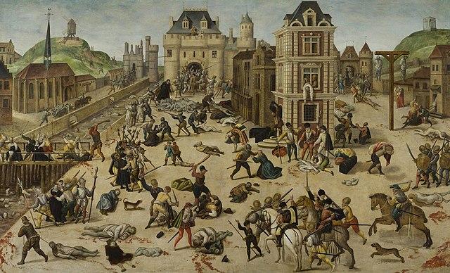 Depiction of St. Bartholomew Day's Massacre