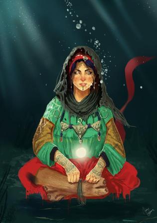 Aisha Kandisha with goat's legs