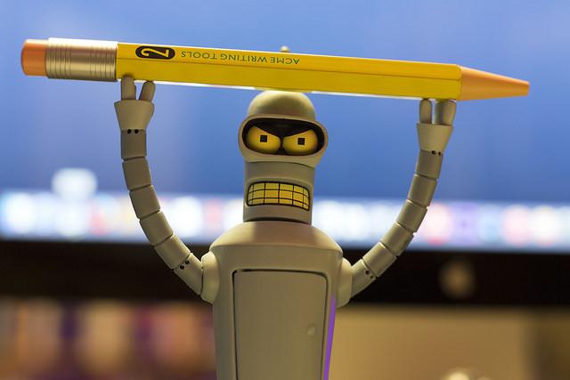 Bender pencil holder