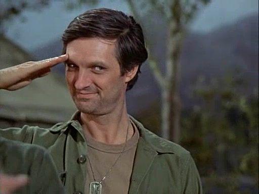 Hawkeye salutes
