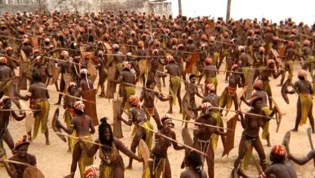 Dahomey Amazons training.