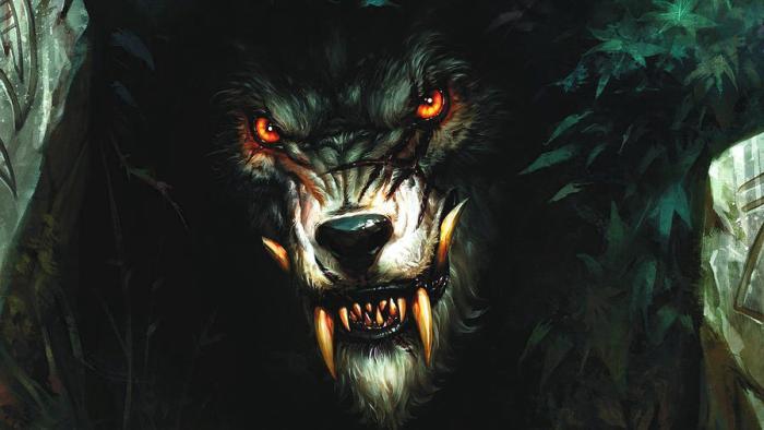 A werewolf in the darkness