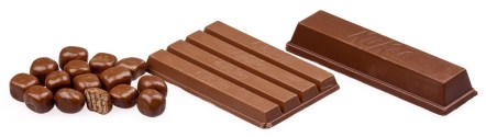 Kit Kat chocolate brand's products in various shapes