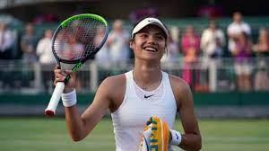 Emma Raducanu on the Court