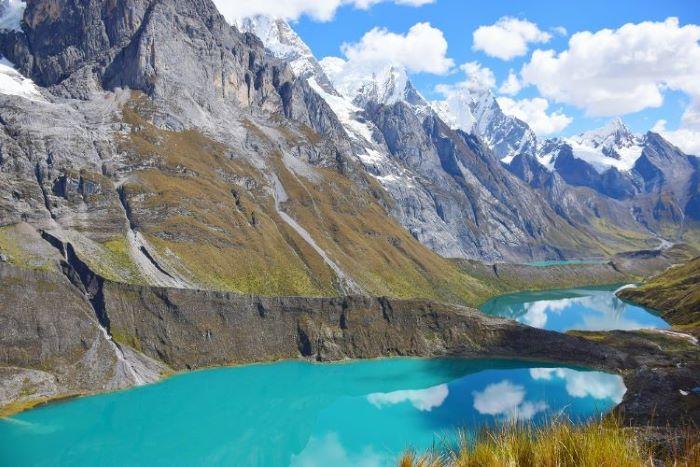 Amazing turqouise lake at Cordillera Blanca in Peru