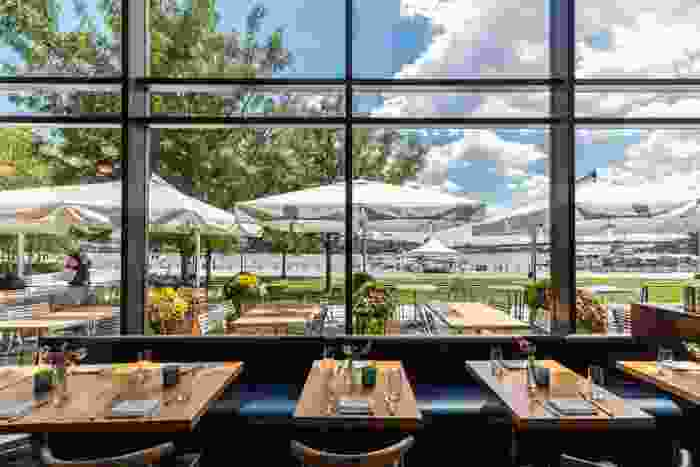Outdoor view from inside DC restaurant District Winery.