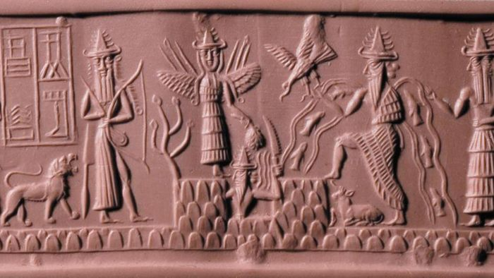 depiction of various mesopotamian mythical characters