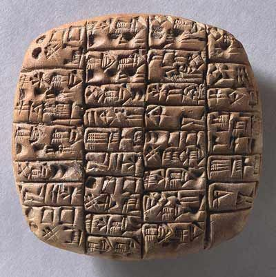clay tablets with cuneiform script