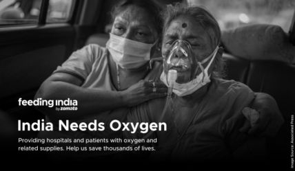 Feeding India programme by Zomato helped in India's oxygen crisis