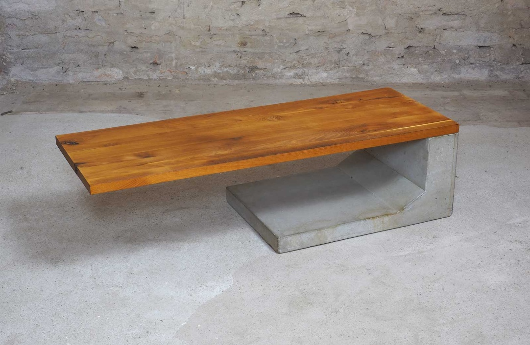 yellow locust cantilever table