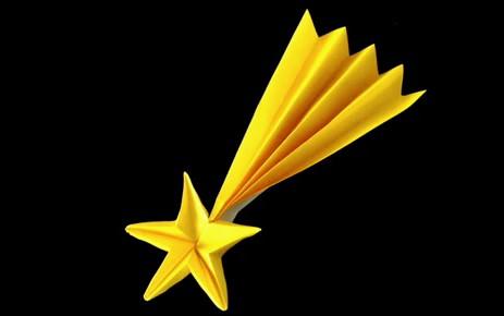 Origami Stella Cometa Per Natale