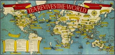 Gill s Tea Revives the World map  1940   Macdonald Gill   9781908402790 Gill s Tea Revives the World map  1940