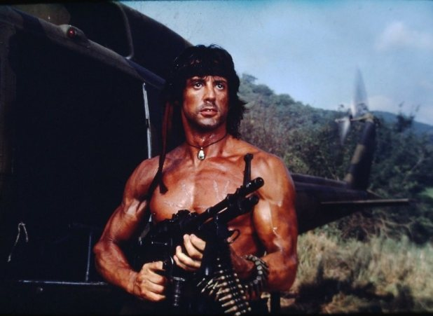 """SYLVESTER STALLONE in """"Rambo: First Blood Part II"""" - Or"""