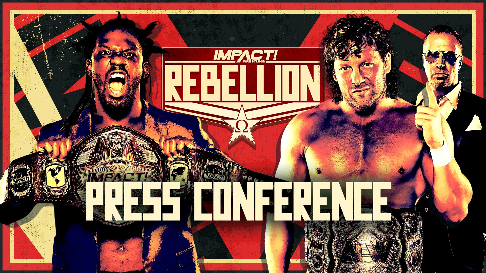 Swann & Omega Come to Blows at Rebellion Press Conference – IMPACT Wrestling