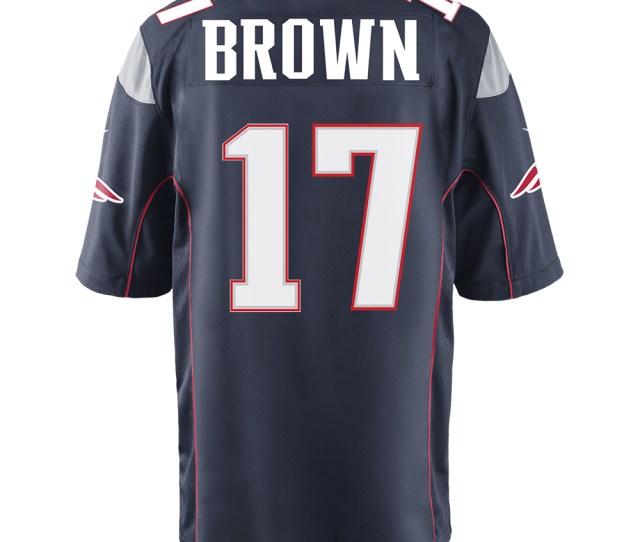 Nike Antonio Brown Game Jersey Navy Patriots Proshop