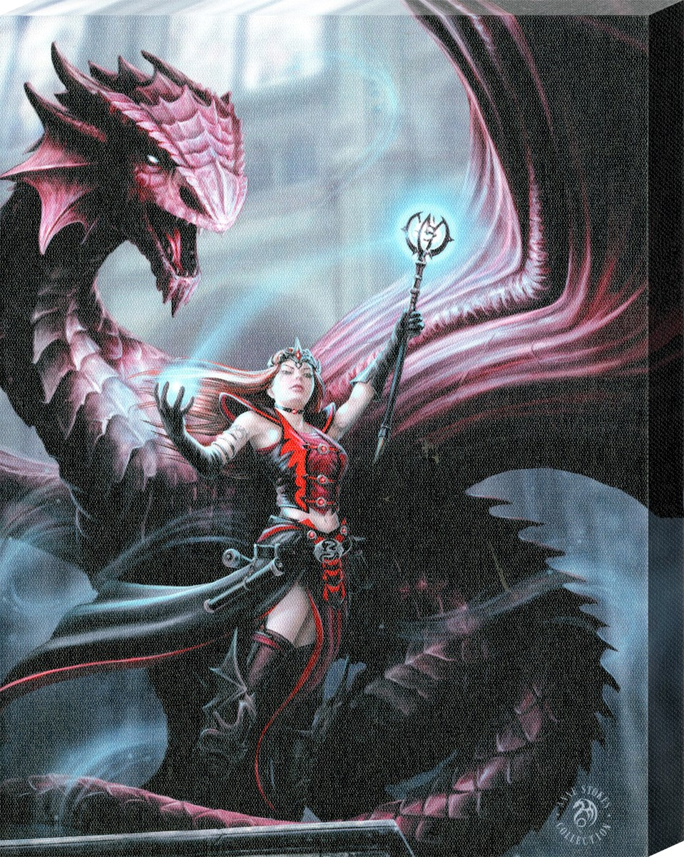 Anne Stokes Scarlet Mage Canvas Print Buy Online At