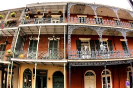 """Design inspiration: Lacey Steelwork in French Quarters (Photo credit: """"Home in New Orleans' French Quarter"""" by Phil Roeder is licensed under CC BY 2.0). https://www.flickr.com/photos/kenlund/3936612686/in/dateposted/ https://creativecommons.org/licenses/by/2.0/legalcode"""