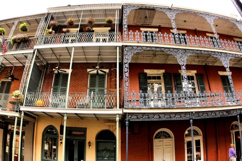 "Design inspiration: Lacey Steelwork in French Quarters (Photo credit: ""Home in New Orleans' French Quarter"" by Phil Roeder is licensed under CC BY 2.0). https://www.flickr.com/photos/kenlund/3936612686/in/dateposted/ https://creativecommons.org/licenses/by/2.0/legalcode"