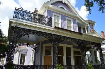 """Design inspiration: Single family residence with porch and lacy steelwork (Photo credit: """"DSC_0085"""" by Daniel Hartwig is licensed under CC BY 2.0). https://www.flickr.com/photos/dwhartwig/9537076465/in/album-72157635128205838/ https://creativecommons.org/licenses/by/2.0/legalcode"""