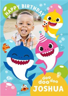 personalised baby shark cards moonpig