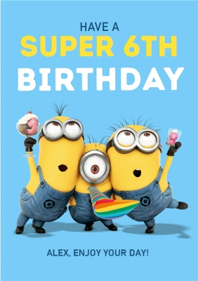 Despicable Me Minions Have A Super Birthday Moonpig