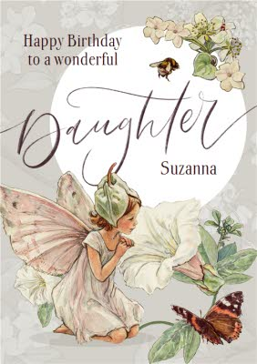 Flower Fairies Wonderful Daughter Birthday Card Moonpig