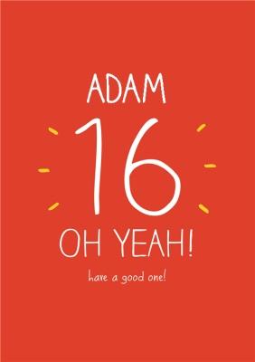 16th Birthday Cards Moonpig